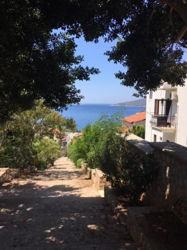 Sea view down steps
