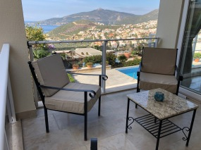 Balcony with Kalkan view