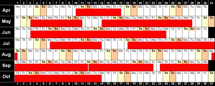 Availability Calendar 2020 image 28.12.19
