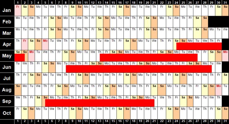 Availability Calendar 2021 image 11.5.20